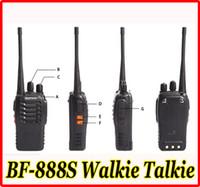 Wholesale HOT BAOFENG BF S Walkie Talkie Handhold CB Radio Interphone Transceiver Mobile Two Way Radio Walkie Talkie UHF W Channel Single Band
