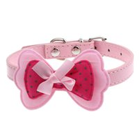 bark collar puppy - Newly Design Double Bowknot Adjustable Pet Collars Cat Dog Puppy Grooming Accessories July20