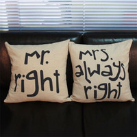 Wholesale Couples Back Cushion Cover Pillow Case Waist Pillow Cotton Decor In Bed Sofa Car