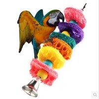 Wholesale Hot Sale Bird Toys Parrot Cage Toys Cages Cockatoo Conure Loofah Sponge Bite Resistant Handmade Parrot Bites Toys