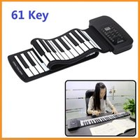 Wholesale Portable Keys Silicone Flexible Roll Up Piano Foldable Keyboard Hand rolling Piano with Battery USB Cable US plug
