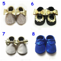 Wholesale UPS free baby bow fringe moccasins kinghoo shoes high quality kids moccs shoes sandals fringe shoes new designed first walker shoes