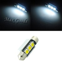 Wholesale 2PCS mm CANBUS Error Free LED SMD C5W License Plate White Dome Festoon Light Bulb