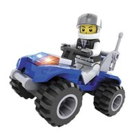 buggy dune buggy - Police Mini dune buggy Building Blocks Model Kit scale models Brick DIY Minifigure Toy brinquedos playmobil Le go marvel