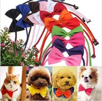 Wholesale 2014 Hot Sales Dog Neck Tie Dog Bow Tie Cat Tie Supplies Pet Headdress adjustable bow tie