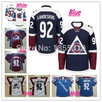 best pa - Factory Outlet New Stadium Series Colorado Avalanche Hockey Jerseys Gabriel Landeskog Jersey New White Blue Red Best Stitched C Pa