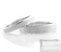 Wholesale New Arrive Fashion Women Men Platinum Plate Stardust Couple Band Love Ring at various sizes