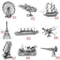 assembly building - New Hot Sale D metal laser cut assembly model d metallic nano puzzle toys star wars musical instrument d building puzzle Chirstmas gifts
