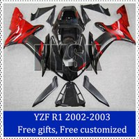 aftermarket decals - Motorbike fairing set for Yamaha YZF R1 Aftermarket motorcycle bodywork YZF R1 Red black sportbike Bodycover original decal