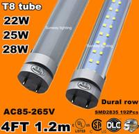 super white - 4ft led tube t8 light w W w Warm Cool White mm ft SMD2835 Super Bright Led Fluorescent Bulbs AC85 V CSA UL