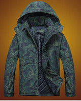 camouflage jacket - Hot Winter Movement Hiking Jackets men Camouflage pattern outdoor breathable Thickening outdoor clothing
