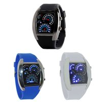aviation bearings - 2015 Newest Fashion Aviation Turbo Dial Flash LED Watch Gift Mens Lady Sports Car Meter