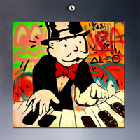 abstract piano art - PLAY Piano dj Alec monopoly wall street arts canvas print POP ART Giclee poster print on canvas for wall decoration painting