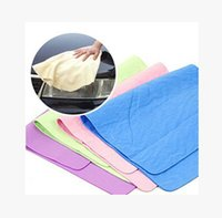 Wholesale Multifunction Chamois Cleaning towel absorbent towel dry hair super soft scouring pad to clean towel pet towel