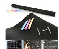 Wholesale Hot Children Blackboard Removable Vinyl Wall Sticker Chalk Board Calkboard Decal Pizarra Tableta cm cm A5