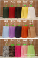 Wholesale 27 cm kraft paper bag Christmas Festival gift package Fashion gift paper bag open tope Shopping bag