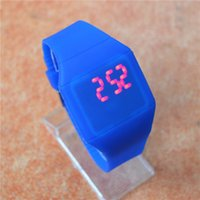 Wholesale Cheap Colorful LED Touch screen Watch Jelly Candy Extra thin Silicone Waist Watches DHL FedEx