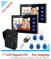 Wholesale 7 quot LCD bells Intercom IR Camera Keyfobs Code Keypad Remote Switch V2 Video Door Phone