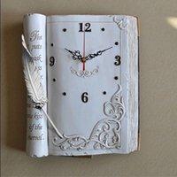 bible retail - EMS and retail new disign bible book shape quiet quartz wall clock gift clock