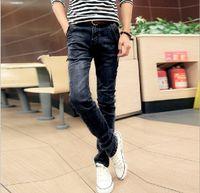 airline flies - Cultivate one s morality men s feet pants Men pencil denim trousers jeans size airlines