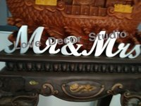 Wholesale New Wedding Gift Mr Mrs Letters White Wood Mr Mrs Sign Top Table Decoration CM CM
