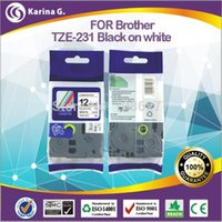 Wholesale Generic label tapes TZ for Brohter Lable Printer MM M Black On White High Quality