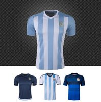 Soccer world cup soccer t-shirts - Cheap Argentina Jersey World Cup Soccer Jerseys Messi Tevez Kun aguero Di maria Lavezzi Football T Shirt Camiseta Top