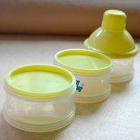Wholesale Cute Portable Detachable Feeding Milk Powder Bottle Container Cells Grid Box