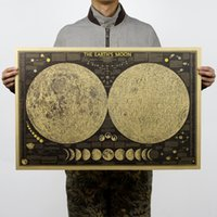 classical painting - National Geographic Moon Chart Bar Cafe Kraft Paper Decorative Poster x48cm