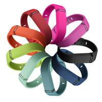 Wholesale 100 brand new Fitbit Flex Wristband Wireless Activity Sleep Sports fitness Tracker smartband for IOS Android smartwatch bracelet