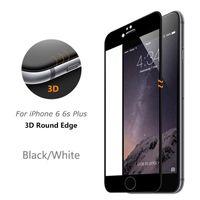 Écrans huawei Prix-Protecteur d'écran transparent en verre trempé 3D incurvé pour iPhone 6 6s 7 Plus Huawei Full Cover 9H Dureté Fibre de carbone Anti-shatter