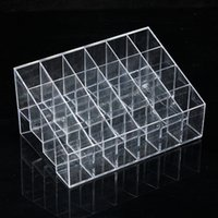 Wholesale Fashion Makeup Lipstick Cosmetic Display Rack Holder Stand Organizer Case Clear Acrylic Storage