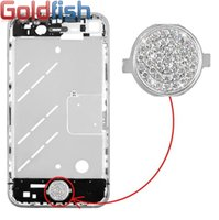 Wholesale Diamond Home Button Key Replacement for iPhone Bling Bling Crystal