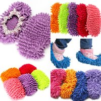 Wholesale pieces Chenille shoes cover lounged grazing slippers set mop wigs clean shoes cover single Lazy Shoe covers
