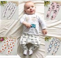 Wholesale Children Kids PP Pants Baby Legging Trousers Tiger Fox Tights Boys Girls Long Harem Pants cm High quality