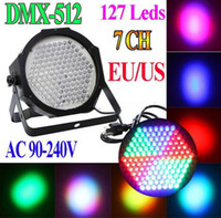 Wholesale HOT BIg stage light LED High Power RGB Par Light With DMX512 Master Slave Led Flat DJ Equipments Controller