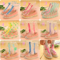 Cheap 8 Styles Long And Short Rain Proof Plastic Rain Cover Cloths Reuse For Shoes Printing Pattern Normal Size From 36-40