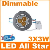 Wholesale Hot Sale W X3W Led Downlight Recessed Lamp AC V Dimmable Led Ceiling Downlights Warm Natural Cool White Power Supply