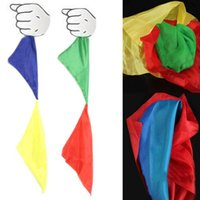 Wholesale New Double Color Changing Hanky Silk Magic Trick change great magic trick Toy MD304