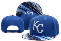 Azul de Kansas City Royals Snapback barato gorras de béisbol Equipo deportivo Snap Backs casquillos frescos del verano de la manera del casquillo plano headwears populares de Hiphop Sombreros