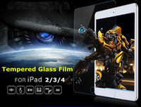Wholesale Protective guard film for ipad mm glass transparent premium H tempered glass screen protector for iPad