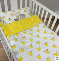 baby duvets - New Arrived Hot Ins crib bed linen baby Bedding set include pillow case bed sheet duvet cover without filling