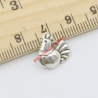 antique hen - 30pcs Antique Silver Plated Chicken Hens Charms Pendants for Jewelry Making DIY Handmade Craft x13mm C216 Jewelry making DIY