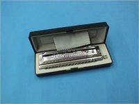Wholesale The hole sound SW1664 silver laser square harmonica senior level agents