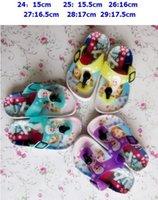 beach shoes children - Frozen Casual Slipper Shoe ELSA ANNA Flip Flops HOT Children Cartoon Beach Shoes Household Shoes