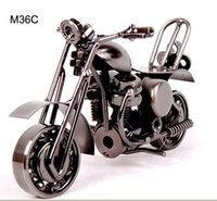antique motorcycle works - Hot Sale New Fashion Christmas Gifts Wrought Iron Mold Crafts Iron Motorcycle Model Craft Home Art Decoration Crafts Gift