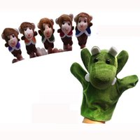wholesale talking monkey al por mayor-Venta al por mayor en el mundo de la poesía infantil de títeres-Five Little Monkeys columpio en un árbol de marionetas del dedo de la felpa para los niños / Estudiantes apoyos que hablan, 72pc / LOT