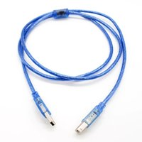 Wholesale 1 M FT Transparent Blue A B Scanner High speed USB certified cable for HP EPSON
