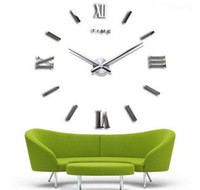 Wholesale meetting room wall clock fashion D big size wall clock mirror sticker DIY wall clocks home decoration wall clock