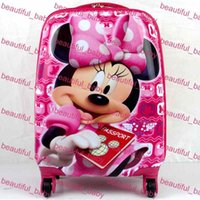 Wholesale Hot Sale Quality Assurance Multiple fuction ABS Cartoon Kids Rolling Luggage Children Travel Bags
